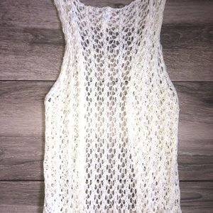 Xhilaration Other - ☀️SALE☀️ Cream/White Crochet Cardigan w/ Fringe